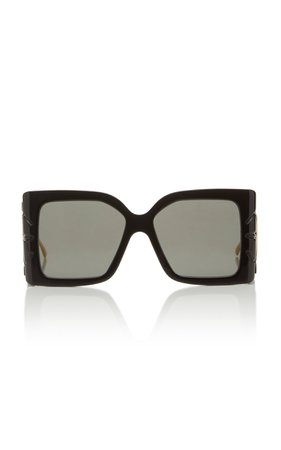 Gucci Sunglasses Acetate Oversized Square-Frame Sunglasses