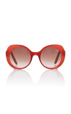 Lapima Carota Round-Frame Acetate Sunglasses