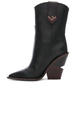 Fendi Cutwalk Western Boots in Black | FWRD