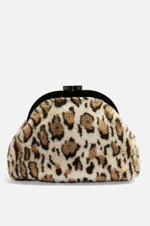 Alexa Leopard Print Faux Fur Pouch - Bags & Purses - Bags & Accessories - Topshop