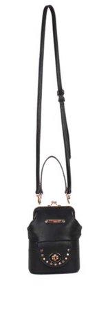 Black Luz Mini Kiss-Lock Crossbody Bag