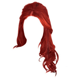 Red Hair Half Up
