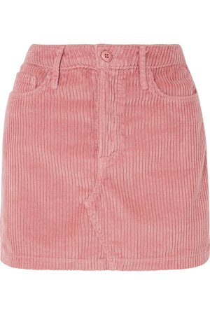 GRLFRND | Zamira cotton-blend corduroy mini skirt | NET-A-PORTER.COM