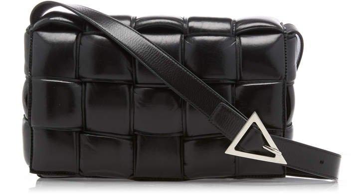 Intrecciato Patent-Leather Shoulder Bag