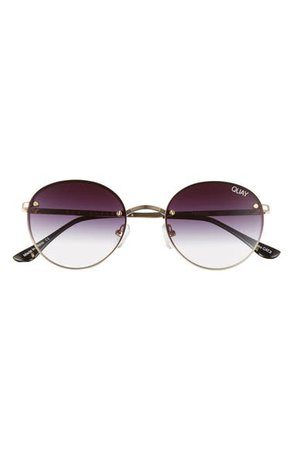 Quay Australia x Elle Ferguson Farrah 53mm Round Sunglasses | Nordstrom