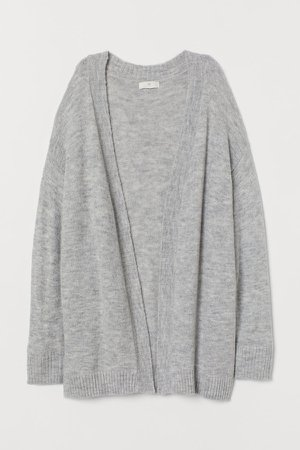 Cardigan without Buttons - Gray