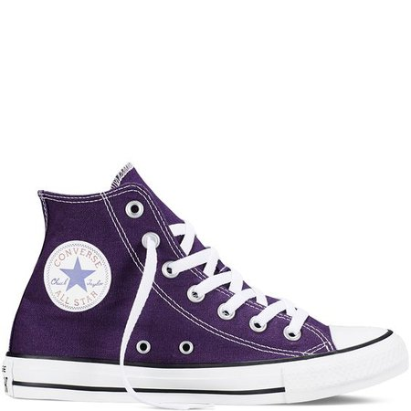 Purple Converse All Star Shoe