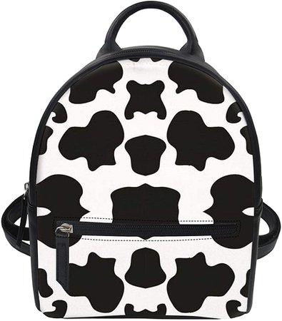 Amazon.com: Aoopistc Black White Cow Print Womens Small Backpack Purse Mini Daypack Crossbody Shoulder Daypack for Women Girls Gifts: Clothing