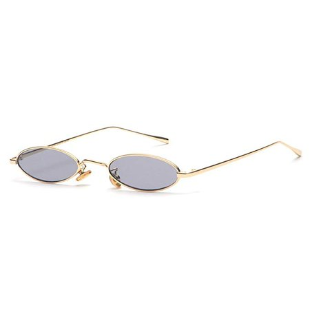 Amazon.com: Vintage Oval Sunglasses Small Metal Frame Fashion Candy Colors Women Sun Glasses (Black): Clothing