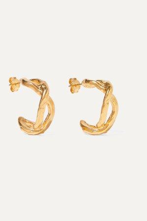 Gold The Orbit Of The Writer gold-plated hoop earrings | Alighieri | NET-A-PORTER