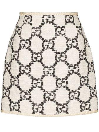 Gucci GG Pattern Tweed Mini Skirt - Farfetch