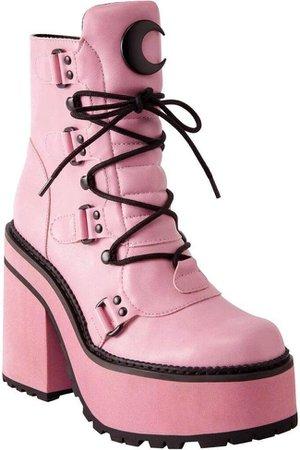 Killstar - Broom Rider Pink Boots - Buy Online Australia – Beserk
