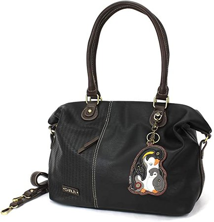 Amazon.com: CHALA Laser Cut Crossbody Shoulder bag Tote Bag with adjustable Strap-Black (Smiley Girl): Shoes