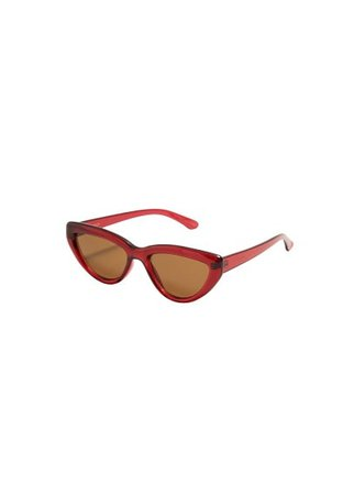 MANGO Clear frame sunglasses