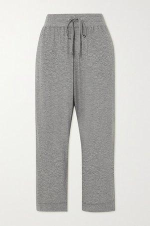 Lotus Cotton-jersey Track Pants - Gray
