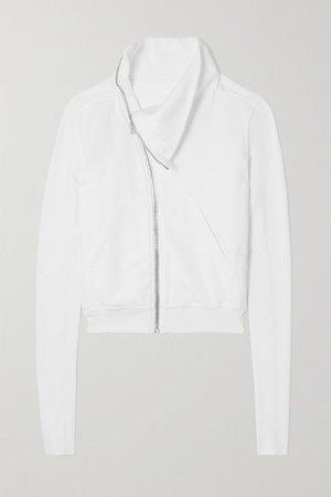 Felpa Zip-detailed Cotton-jersey Sweatshirt - White