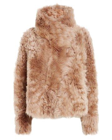 Women's Reversible Shearling Coat   Yves Salomon