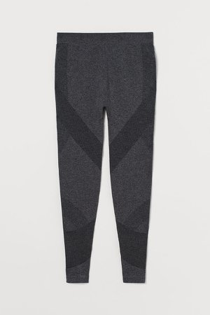 MAMA Seamless Sports Leggings - Black