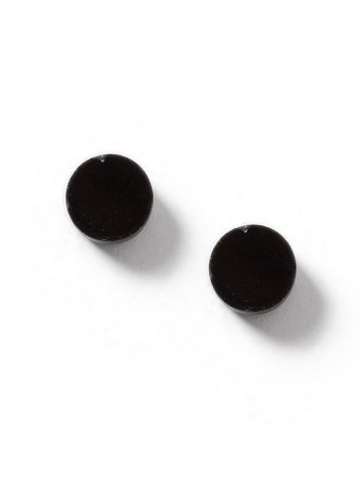 Black Plastic Circle Stud Earrings | Topman