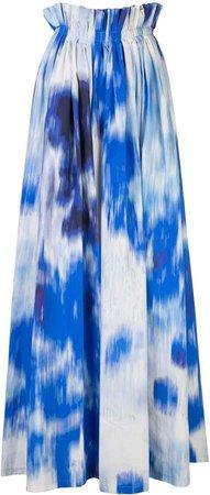 graphic print A-line skirt