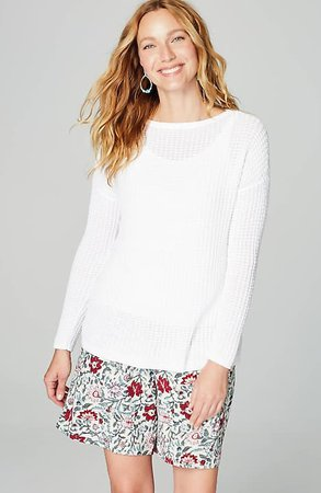 Textured Easy Sweater | JJill