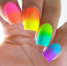 tie dye rainbow nails - Google Search