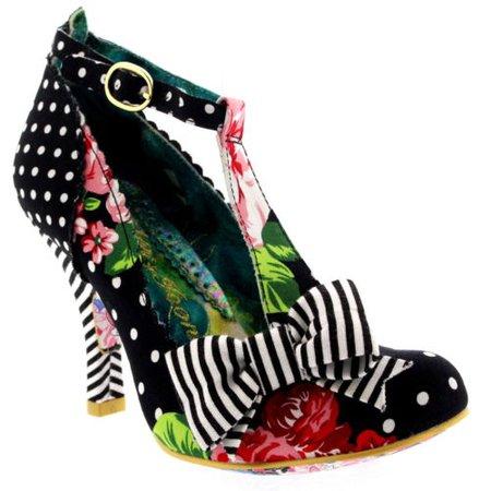 Womens Irregular Choice Bloxy High Heel Evening Bow T-Bar Court Shoes UK 3.5-8.5 5052224341075 | eBay