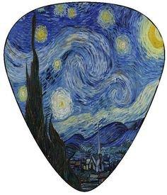 Pinterest (Pin) (7) Vincent Van Gogh Guitar Pick