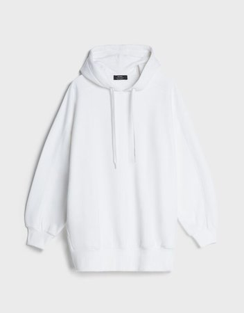Oversized hooded sweatshirt - Sweatshirts and Hoodies - Woman | Bershka