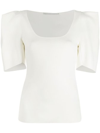 White Stella Mccartney Structured Shoulders Blouse | Farfetch.com