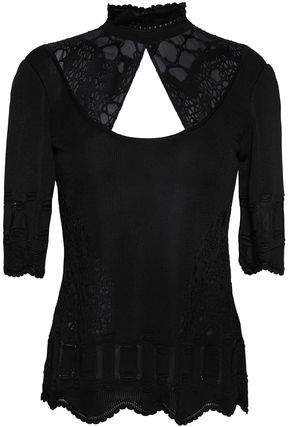 Paneled Cutout Knitted Top