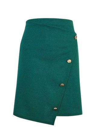 **Green Asymmetric Skirt | Dorothy Perkins