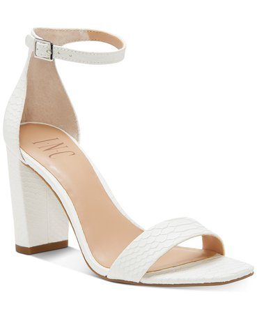 INC International Concepts INC Women's Lexini Two-Piece Sandals, Created for Macy's & Reviews - Sandals & Flip Flops - Shoes - Macy's white