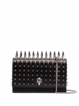 Shop Alexander McQueen stud-embellished crossbody bag with Express Delivery - FARFETCH