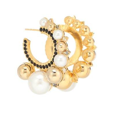 Embellished Hoop Earrings | Erdem - Mytheresa