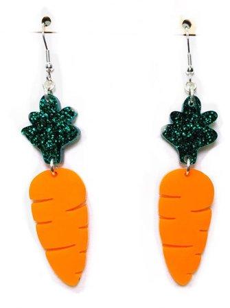 kitschy carrot earrings