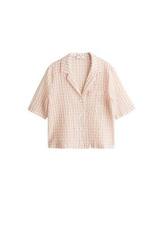 MANGO Gingham check shirt