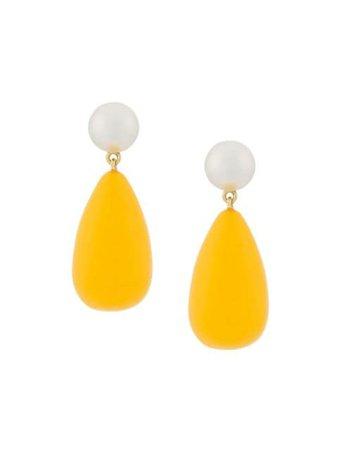 Eshvi teardrop earrings yellow MK7Y - Farfetch