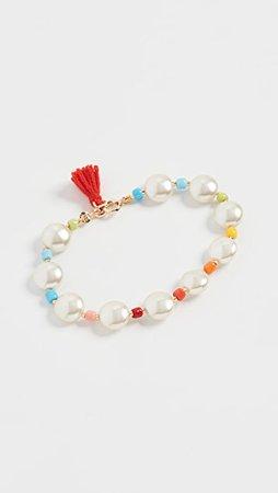 Roxanne Assoulin Pancake Imitation Pearl Bracelet | SHOPBOP
