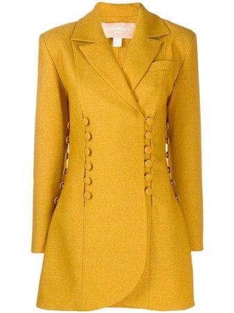 Yellow Matériel Button Panelled Blazer Jacket | Farfetch.com