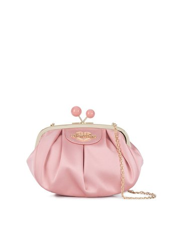 Love Moschino Satin Top Clasp Shoulder Bag - Farfetch