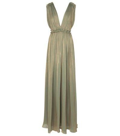 Costarellos, Lorelle pleated gown
