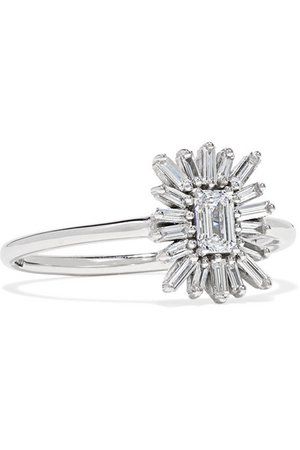 Suzanne Kalan   18-karat white gold diamond ring   NET-A-PORTER.COM