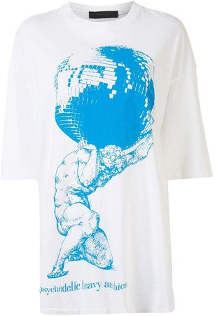 graphic print oversized T-shirt