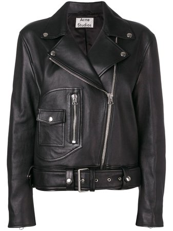 Acne Studios New Merlyn Biker Jacket - Farfetch