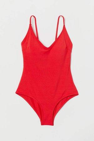 V-neck Swimsuit - Red