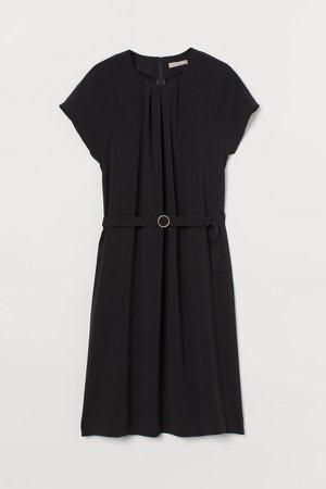 Belted Dress - Black
