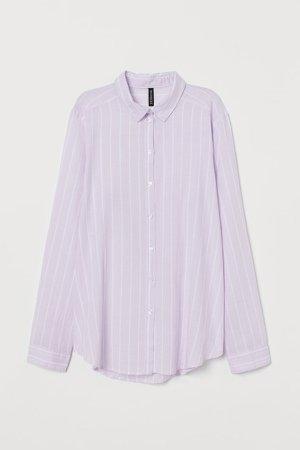 Cotton Poplin Shirt - Purple