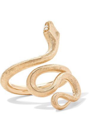 OLE LYNGGAARD COPENHAGEN | Snake medium 18-karat gold diamond ring | NET-A-PORTER.COM
