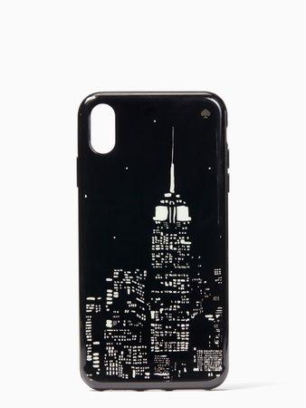 glow in the dark skyline iphone xs max case | Kate Spade New York